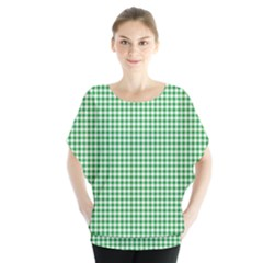 Green Tablecloth Plaid Line Blouse by Alisyart