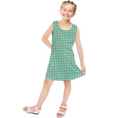 Green Tablecloth Plaid Line Kids  Tunic Dress by Alisyart
