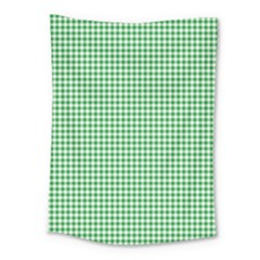 Green Tablecloth Plaid Line Medium Tapestry