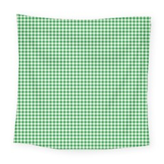 Green Tablecloth Plaid Line Square Tapestry (large) by Alisyart