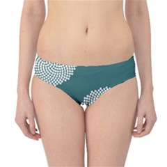 Green Circle Floral Flower Blue White Hipster Bikini Bottoms by Alisyart