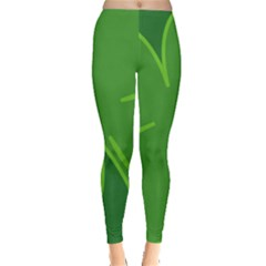 Leaf Clover Green Leggings  by Alisyart