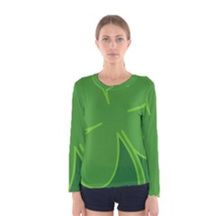 Leaf Clover Green Women s Long Sleeve Tee by Alisyart