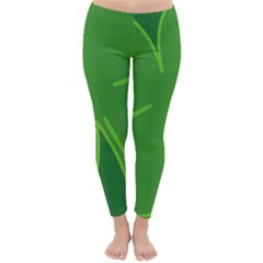 Leaf Clover Green Classic Winter Leggings