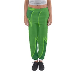 Leaf Clover Green Women s Jogger Sweatpants by Alisyart