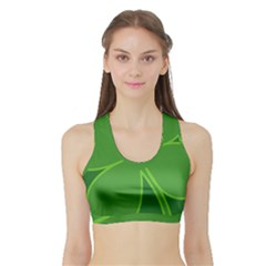 Leaf Clover Green Sports Bra With Border