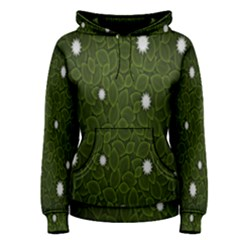 Graphics Green Leaves Star White Floral Sunflower Women s Pullover Hoodie