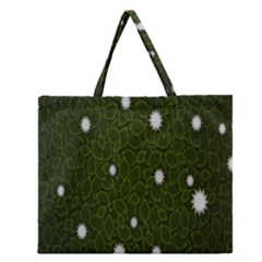 Graphics Green Leaves Star White Floral Sunflower Zipper Large Tote Bag by Alisyart