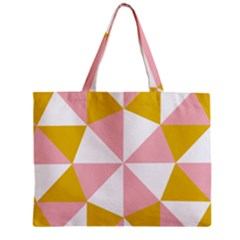Learning Connection Circle Triangle Pink White Orange Mini Tote Bag by Alisyart