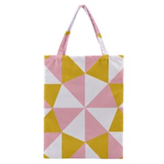Learning Connection Circle Triangle Pink White Orange Classic Tote Bag