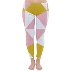Learning Connection Circle Triangle Pink White Orange Classic Winter Leggings