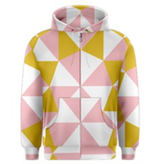 Learning Connection Circle Triangle Pink White Orange Men s Zipper Hoodie