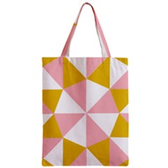 Learning Connection Circle Triangle Pink White Orange Zipper Classic Tote Bag