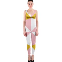 Learning Connection Circle Triangle Pink White Orange Onepiece Catsuit by Alisyart