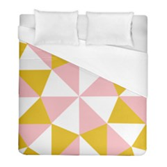 Learning Connection Circle Triangle Pink White Orange Duvet Cover (full/ Double Size) by Alisyart