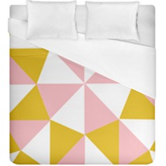 Learning Connection Circle Triangle Pink White Orange Duvet Cover (king Size) by Alisyart