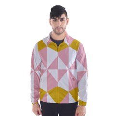 Learning Connection Circle Triangle Pink White Orange Wind Breaker (men)