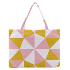 Learning Connection Circle Triangle Pink White Orange Medium Zipper Tote Bag