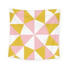 Learning Connection Circle Triangle Pink White Orange Square Tapestry (small) by Alisyart