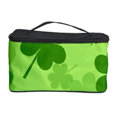 Leaf Clover Green Line Cosmetic Storage Case by Alisyart