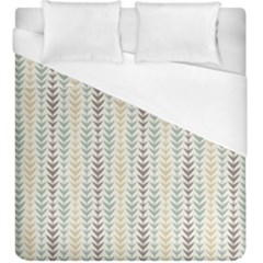 Leaf Triangle Grey Blue Gold Line Frame Duvet Cover (king Size)