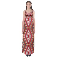 Indian Pattern Sweet Triangle Red Orange Purple Rainbow Empire Waist Maxi Dress by Alisyart