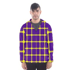 Optical Illusions Circle Line Yellow Blue Hooded Wind Breaker (men) by Alisyart