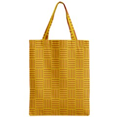 Plaid Line Orange Yellow Zipper Classic Tote Bag by Alisyart