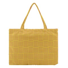 Plaid Line Orange Yellow Medium Tote Bag