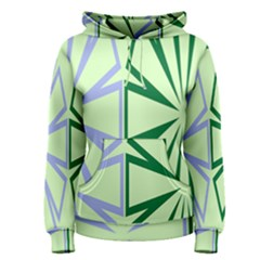 Starburst Shapes Large Green Purple Women s Pullover Hoodie