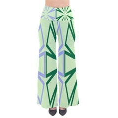 Starburst Shapes Large Green Purple Pants by Alisyart