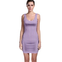 Purple Tablecloth Plaid Line Sleeveless Bodycon Dress by Alisyart