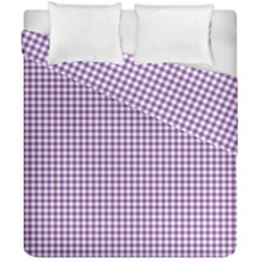 Purple Tablecloth Plaid Line Duvet Cover Double Side (california King Size)