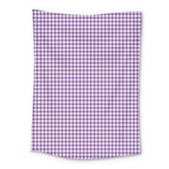Purple Tablecloth Plaid Line Medium Tapestry by Alisyart