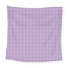Purple Tablecloth Plaid Line Square Tapestry (large) by Alisyart