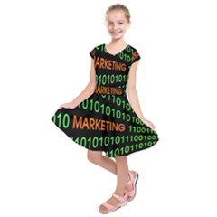 Marketing Runing Number Kids  Short Sleeve Dress