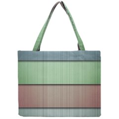 Modern Texture Blue Green Red Grey Chevron Wave Line Mini Tote Bag by Alisyart