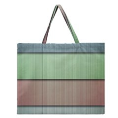 Modern Texture Blue Green Red Grey Chevron Wave Line Zipper Large Tote Bag