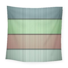 Modern Texture Blue Green Red Grey Chevron Wave Line Square Tapestry (large)