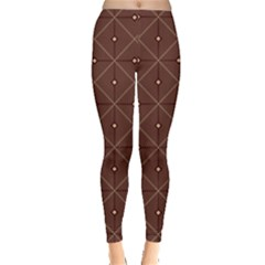 Coloured Line Squares Plaid Triangle Brown Line Chevron Leggings  by Alisyart