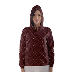 Coloured Line Squares Plaid Triangle Brown Line Chevron Hooded Wind Breaker (women)