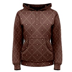 Coloured Line Squares Plaid Triangle Brown Line Chevron Women s Pullover Hoodie