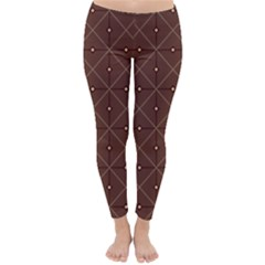 Coloured Line Squares Plaid Triangle Brown Line Chevron Classic Winter Leggings