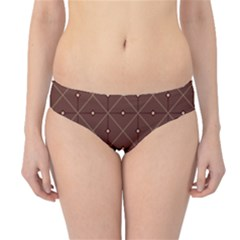 Coloured Line Squares Plaid Triangle Brown Line Chevron Hipster Bikini Bottoms by Alisyart