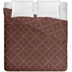 Coloured Line Squares Plaid Triangle Brown Line Chevron Duvet Cover Double Side (king Size)