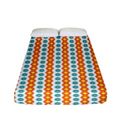 Sunflower Orange Gold Blue Floral Fitted Sheet (full/ Double Size) by Alisyart