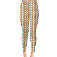 Sunflower Orange Gold Blue Floral Classic Winter Leggings