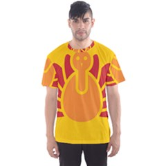 Animals Bird Pet Turkey Red Orange Yellow Men s Sport Mesh Tee