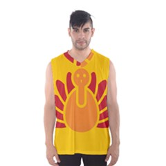 Animals Bird Pet Turkey Red Orange Yellow Men s Basketball Tank Top