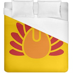 Animals Bird Pet Turkey Red Orange Yellow Duvet Cover (king Size)